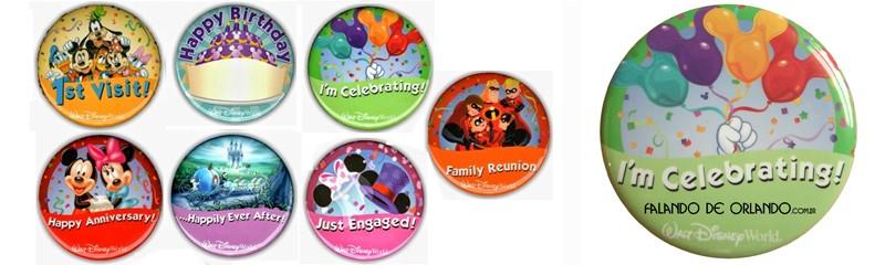 Broches Comemorativos Disney World