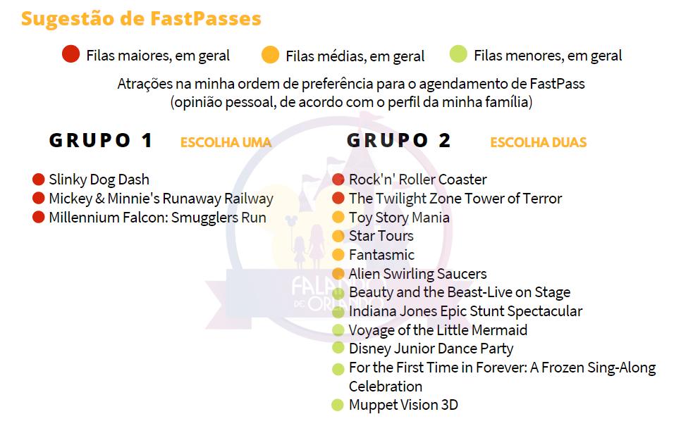 FastPasses Disney's Hollywood Studios