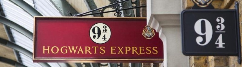 Plataforma 9 3/4 na Universal Studios