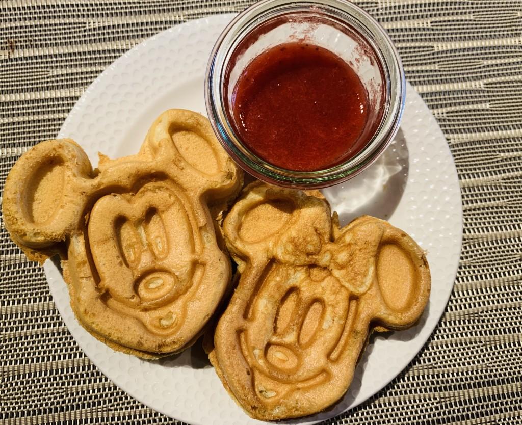 Waffle do Mickey