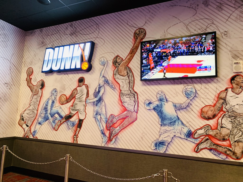 Enterrada Dunk no NBA Experience
