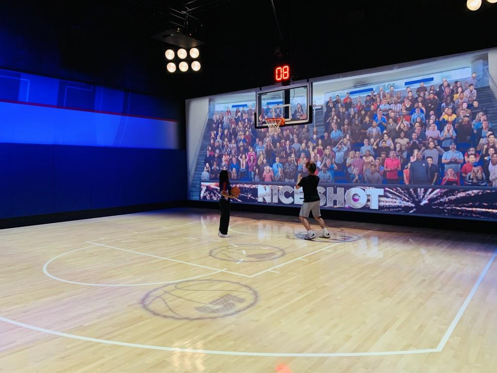 Atividade no NBA Experience